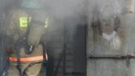 На пр. Карла Маркса в Самаре сгорели два гаража