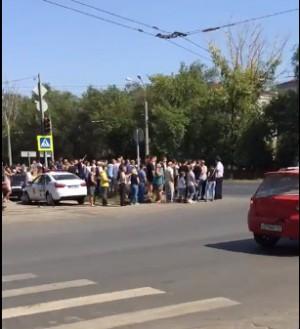 Самарские автолюбители устроили митинг против штрафов за встречку