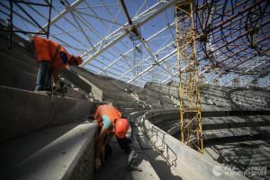 На стадионе «Самара Арена» приступили к монтажу кровли с применением поликарбоната
