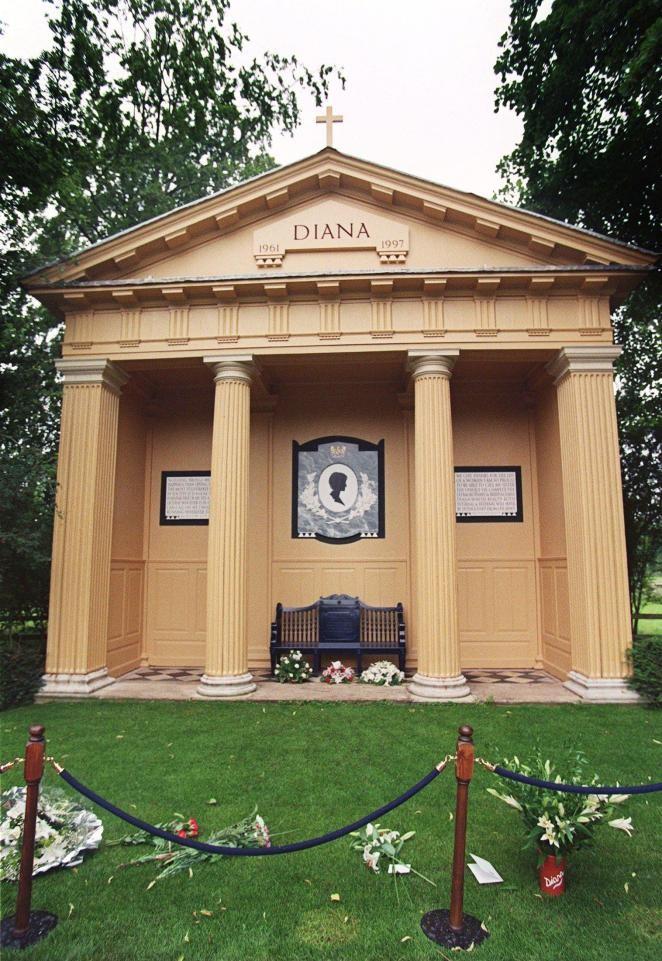 Где похоронена Диана