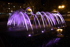 На Стара-Загоре начали работать фонтаны с подсветкой
