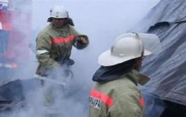 В Борском районе горел нежилой дом и надворные постройки на площади 160 квадратных метров