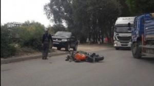 В Самаре байкер пострадал при столкновении с автомобилем Suzuki