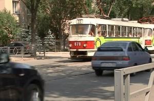 В центре Самары из-за аварии стояло движение трамваев