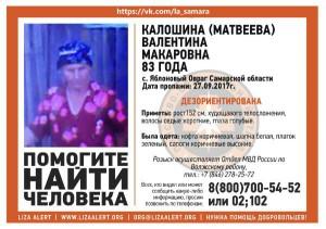 В Самарской области пропала пожилая женщина