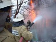 В Красноглинском районе в СНТ «Знамя Октября» горел дачный дом