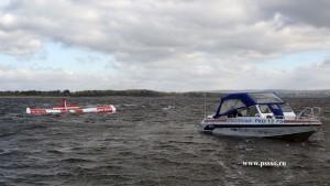 Около «Ладьи», при попытке взлета, в Волгу упал легкомоторный самолет