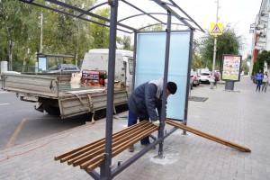 В Самаре начали устанавливать новые остановочные павильоны вдоль гостевых и туристических маршрутов