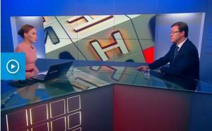 Врио губернатора Самарской области Дмитрий Азаров дал интервью телеканалу