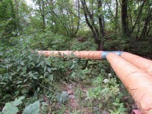 В Жигулевске двое мужчин похитили с трубопровода 250 метров стального кожуха
