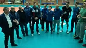 Тренировку  волейбольной команды «Нова» посетил врио министра спорта Самарской области Дмитрий Шляхтин
