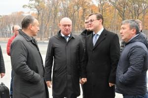 Дмитрий Азаров посетил объекты дорожного строительства к ЧМ-2018 и стадион «Самара Арена»