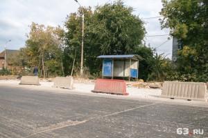 На Красноглинском шоссе в Самаре начали работы по укреплению дорожного полотна