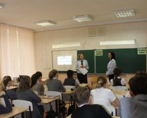 В школе №76 Самары полицейские провели для восьмиклассников урок