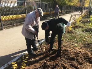 В Самаре на территории госпиталя для ветеранов войн посадили именные кедры: каждое дерево получит имя солдата ВОВ