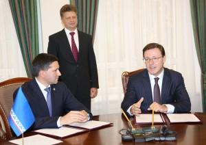 Главы Самарской области и Ямало-Ненецкого автономного округа подписали соглашение о социально-экономическом сотрудничестве