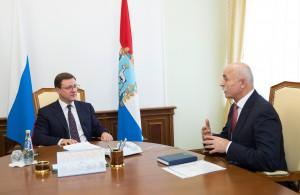 Дмитрий Азаров и Ростислав Хугаев обсудили открытие национального парка в Самаре