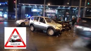 На Московском шоссе в Самаре Niva Chevrolet протаранила Skoda