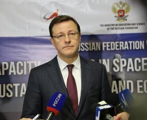 Дмитрий Азаров обратился с приветственным словом к участникам форума по космической тематике под эгидой ООН