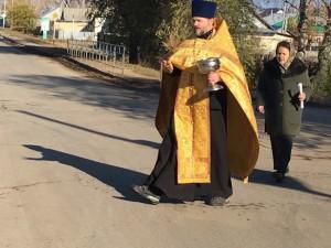 В Похвистнево представитель православной церкви освятил опасный перекресток