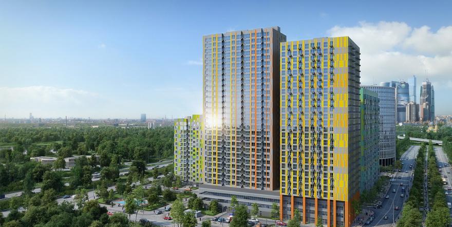 Квартиры с видом на парковую зону и Москва-реку уже в продаже