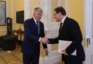 Дмитрий Азаров провел в Москве рабочую встречу с министром спорта России Павлом Колобковым