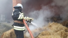 В Похвистневском районе Самарской области сгорело 10 тонн сена