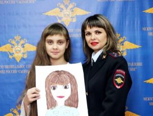 Дети сызранских полицейских нарисовали своих родителей