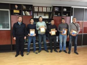 Полицейские наградили лучших представителей таксомоторных организаций в Самаре