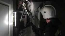 На ул. Некрасовской пожар из-за короткого замыкания тушили 26 человек