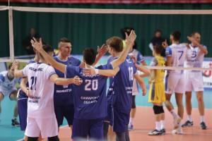 Волейболисты «Новы» одержали пятую победу подряд в чемпионате российской Суперлиги