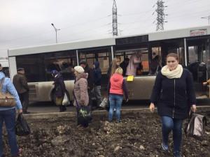 В Красноглинском районе Самары в автобус № 67 въехал большегруз