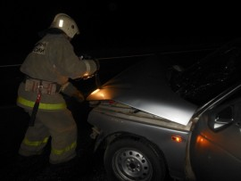 Ночью в Тольятти опрокинулся автомобиль