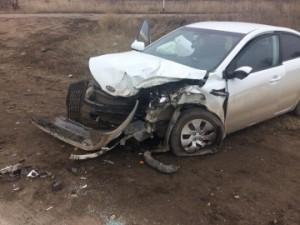 В Кинельском районе иномарка Toyota врезалась в Kia