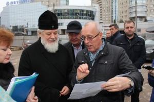 В Самаре началось строительство лестничного спуска от здания Собора Софии Премудрости Божией
