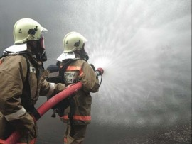 Ночной пожар на ул. Главной в Самаре тушили 75 человек