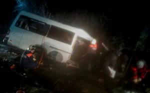 В результате столкновения микроавтобуса и лесовоза в Марий Эле погибли по меньшей мере 14 человек