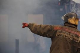На проспекте Ленина в Самаре горел фасад здания
