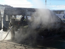 В Самаре на Ново-Садовой горела «Газель»