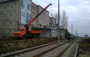 В Самаре на Ташкентской демонтируют пристрой, граничащий с трамвайными путями к стадиону ЧМ-2018