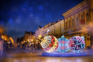 На улицах Самары начался монтаж новогодней иллюминации