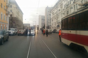 На ул. Галактионовская в Самаре из-за ДТП встали трамваи