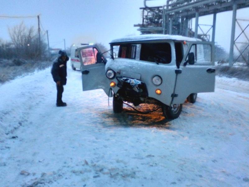 В Новокуйбышевске пострадал водитель УАЗа, столкнувшись с автомобилем Тойота Ланд Крузер
