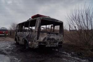 В Сызрани загорелся автобус ПАЗ, перевозивший вахтовиков с «Газпрома»