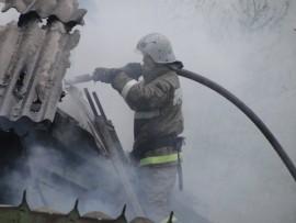 В Челно-Вершинском районе горел частный дом на площади 110 квадратных метров