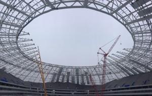 На стадионе «Самара Арена» установлены все 14 элементов козырьков