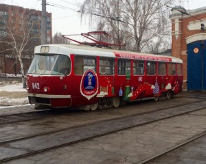 В Самаре курсируют еще три трамвая с символикой ЧМ-2018