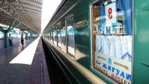 На КбшЖД презентовали обновленный интерьер фирменного поезда «Жигули»