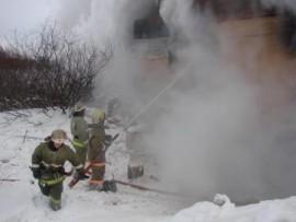 В Самаре на проспекте Кирова горел гараж