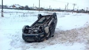 В Ставропольском районе водитель ГАЗ 3302 при обгоне столкнул в кювет Dodge Caravan